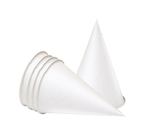 The Paper Cup Factory Cônes en Carton jetables de 100 ML (4floz) pour fontaines à Eau, 200 pièces pour Paquet, de