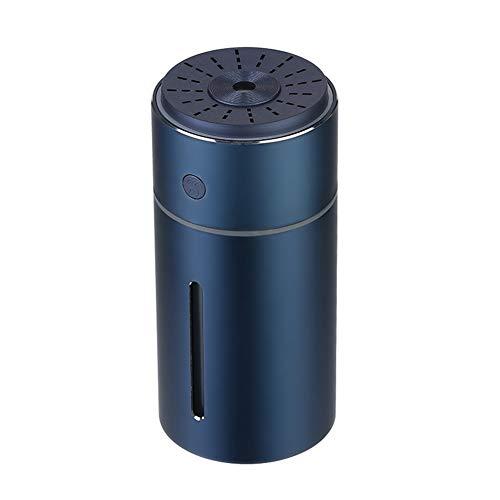 Humidificador USB para coche con aceites esenciales y luz LED (azul)