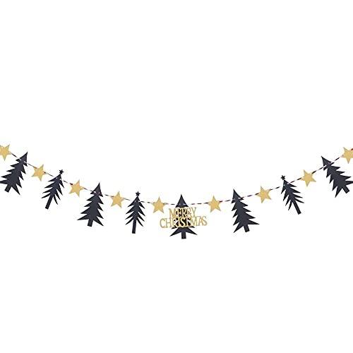 xiaoyu shop Guirnalda de banderines de Navidad para colgar en el hogar, fiestas de Navidad
