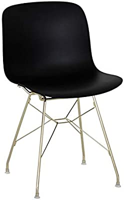 Magis Troy Chair in Black Polypropylene with Golden Structure