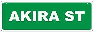 "Novelty Street Sign - Akira Street - For Boys, Girls, Kids, Children, Nursery, Bedroom, Playroom, Etc. - 17"" x 6"" Green Plastic Sign - Personalized, Customized by Crazy Sticker Guy [並行輸入品]"