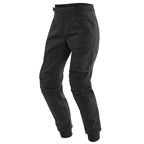 Dainese Trackpants - Pantalones de motorista para mujer, color negro, talla 28