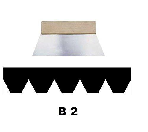 Leim Klebstoff Zahnspachtel Bodenleger Normalstahl B2 2.1x2.9mm gezahnt 250mm