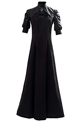tianxinxishop Mujer Yennefer Cosplay Disfraz Yennefer of Vengerberg Vestido Hueco de Algodon Jacquard Medieval + Chaqueta Negro, XS