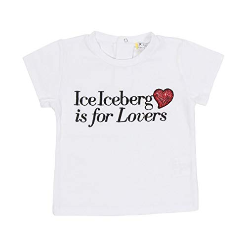 Iceberg T-Shirt Bimba TSICE2178B Bianca Con Cuore Rosso PE20 18M