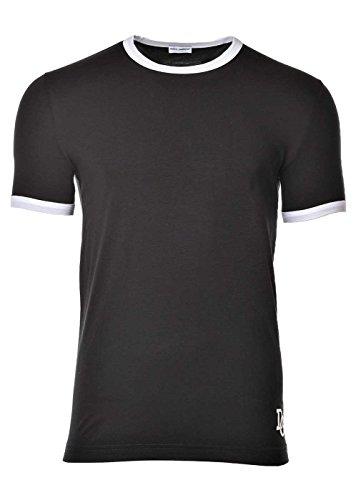 Dolce & Gabbana Camiseta para Hombres, Ropa Interior, Girocollo, Cuello Redondo, Uni - Negro: Colour: Grey | Size: Large