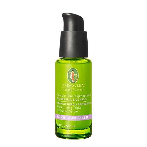 PRIMAVERA Feuchtigkeitspflege Energie Feuchtigkeitsserum Neroli Cassis 30 ml - Naturkosmetik - vitalisierend für normale bis trockene Haut - vegan