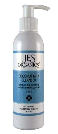 JES Organics Coconut Milk Facial Cleanser, Age Defying, Organic Infused, Paraben Free (Dry,...