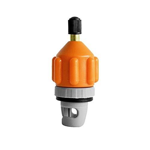 WOIA Sup Paddle Board Air Boquilla Adaptador de válvula de Aire para Kayak Adaptador de inflador de Bomba de Coche, Naranja