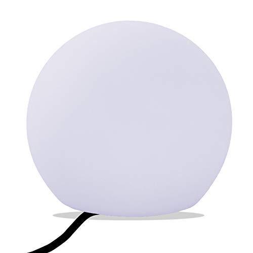 PK Green Lampada Tavolo Salotto, LED E27 Bianco, Palla 30cm
