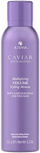 Alterna Caviar Anti-Aging Multiplying Volume Styling Mousse, 8.2 Ounce | For Fine, Thin Hair | Medium Hold | Sulfate Free