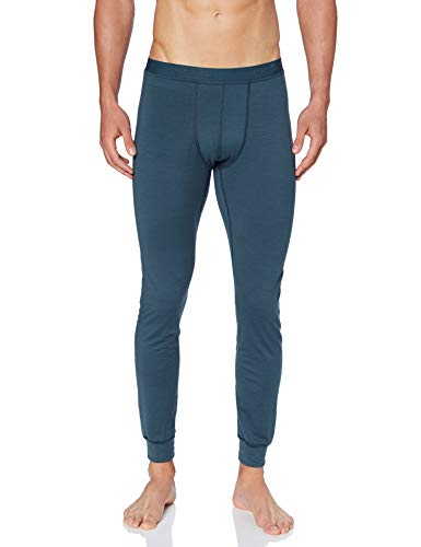 Odlo Herren SUW Bottom Pant Natural 100% Merino WARM Unterhose, Blue Wing Teal, L