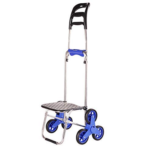Xu Yuan Jia-Shop Carro Compra Creative Can Climb Stairs Cart Portable Plegable Shopping Cart for Comprar Comida Shopping Cart Carro de Compra/Carrito de Compra (Color : A)