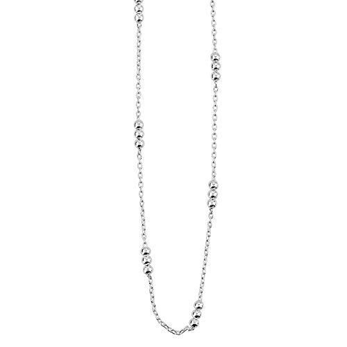Dew Set Fine Trace Chain 1mm Triple Station Balls 16 Necklace CN0916