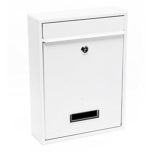 Briefkasten Wandbriefkasten Briefkastenanlage Weiß pulverbeschichtet V1