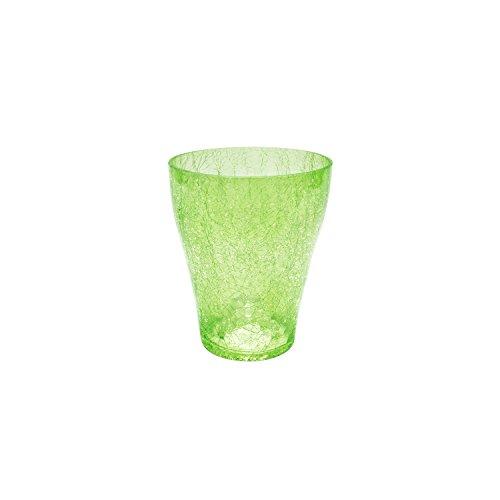 Bloempot rond orchideeënpot orchidee D 75 mm H 90 mm glas pot kristal glazen scharen groen