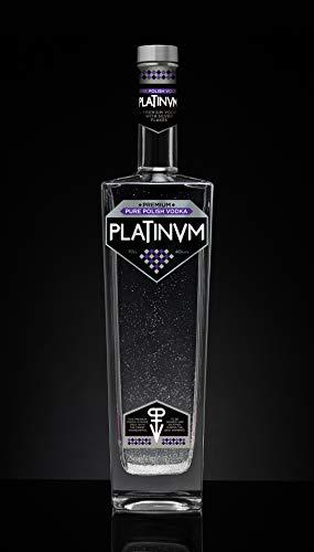 Platinvm Pure Polish Vodka con plata - ideal regalo Navidad, cumpleaños, día del padre,...
