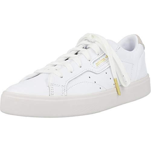 adidas Sleek W, Scarpe da Ginnastica Donna, Bianco (Footwear White/Footwear White/Crystal White 0), 37 1/3 EU