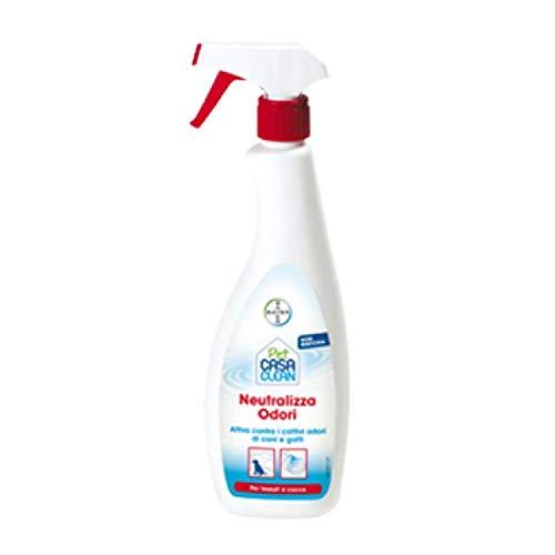 Bayer SpA Pet Clean Casa Neutralizza Odori Tessuti Cucce 750ml