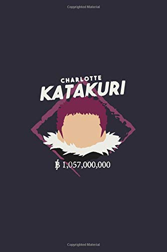 """Charlotte Katakuri: pirate in the world of One Piece,Matte Cover , Journal/Notebook for Writing, Gift, School & Office, College Ruled Size """"6 x 9"""", 120 Pages"""