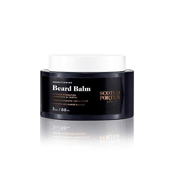 Scotch Porter Conditioning Beard Balm for Men | Hydrates, Smooths, Adds Shine & Tames Flyaway Hair | Formulated with Non… 1