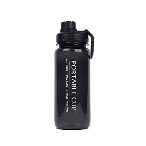 BUMSIEMO 1 Pc Sports Water Fitness Excerise Bottles Bottle Measuring Sports Water Time Marker Bottle Intake Black