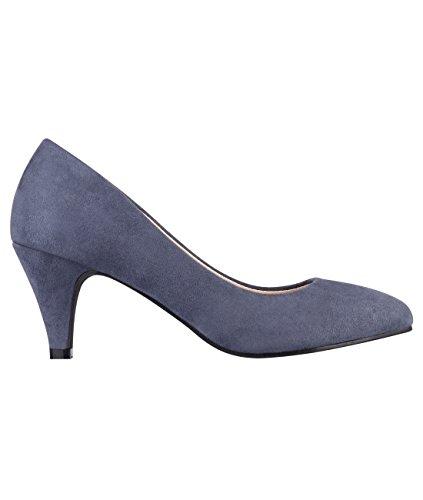 5792-NVY-5, KRISP Zapatos Tacón Salón Elegantes Fiesta, Azul Marino (5792), 38