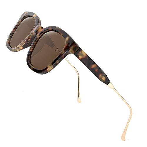 FEISEDY Gafas de sol clásicas polarizadas cuadradas mujeres hombres UV400 lentes B2624