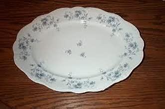 Johann Haviland 14 3/4 Oval Serving Platter Blue Garland