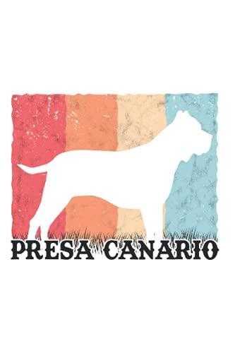 Presa Canario Tagesplaner: Presa Canario Retro Dogo Canario Vintage / Kalender 2022...