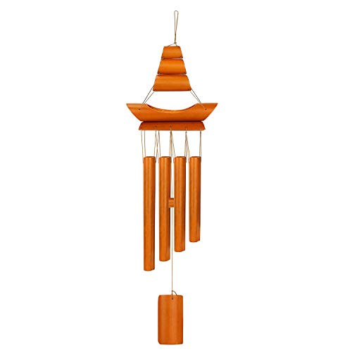 Whiidoom Bamboo Wind Chimes with 8 Tube Music Wind Chime for Indoor Outdoor Patio Garden Decoration Natural Beautiful Sound