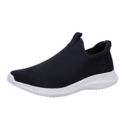 AIni Herren Schuhe,2019 Neuer Heißer Beiläufiges Mode Sale Paar Gewebte Atmungsaktive Freizeitschuhe Ultraleichte Hohle Weiche Untere Mesh Schuhe Partyschuhe Freizeitschuhe(40,Blau)
