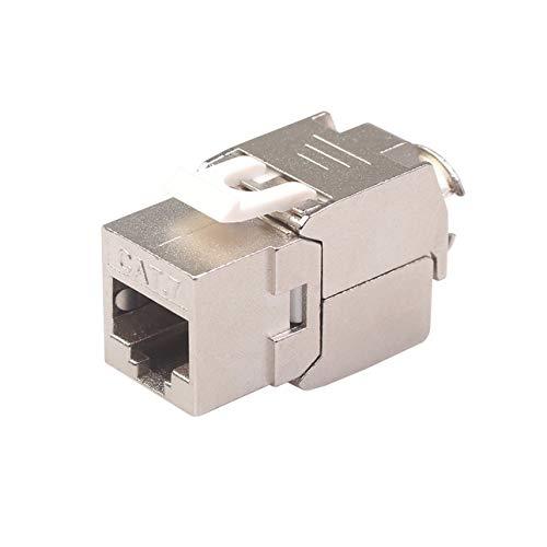Ba30DEllylelly Módulo de Conector Trapezoidal de Red RJ45 Cat6 Cat7, Enchufe RJ45 blindado Completo de 360 Grados a terminación sin Herramientas LSA