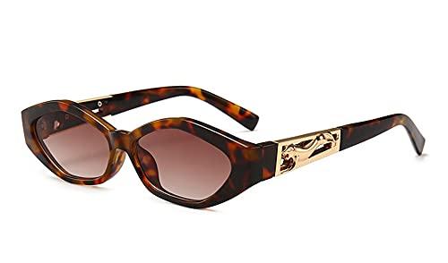 XIAOLING 2021 Mujeres Lujo Pequeñas Gafas de Sol Oval Rectángulo Gafas de Sol para Hombres Tendencia de Calidad Hombre Sombras Eyewear Lady UV400 (Color : 8, Size : Height: 38mm)