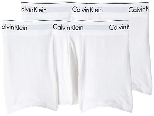 Calvin Klein Herren Boxershorts 2P TRUNK, Gr. Small, Weiß (WHITE 100)