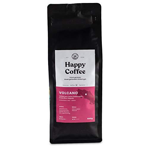Happy Coffee VOLCANO Natural Coffee [500GR] Limited Edition - Superfruchtige Filterkaffee Bohnen für Handfilter, Chemex, Aeropress, Cold Brew - Ganze Bohne