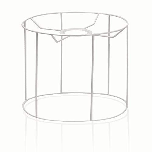 SMITS - Estructura de pantalla para lámpara (plastificada, ovalada, diámetro superior 30 x 20,5 cm, diámetro inferior 35 x 22,5 cm, altura 26,5 cm)