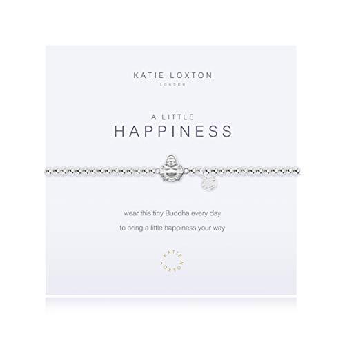 Katie Loxton A Little Happiness Buddha Silver Women's One Size Stretch Charm Bangle Bracelet
