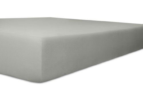 Kneer 2501884 Easy-Stretch Spannbetttuch Qualität 25, Größe 180 x 200-200 x 220 cm, Schiefer