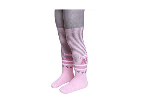 YSN Home Collection Conte-Kids Modieuze panty van katoen voor baby meisjes Fashion Girl - Grijs Roze Roze met strepen, maat 92-98