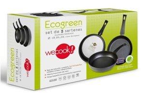 WECOOK Set 3 sartenes, Aluminio prensado, 24_cm