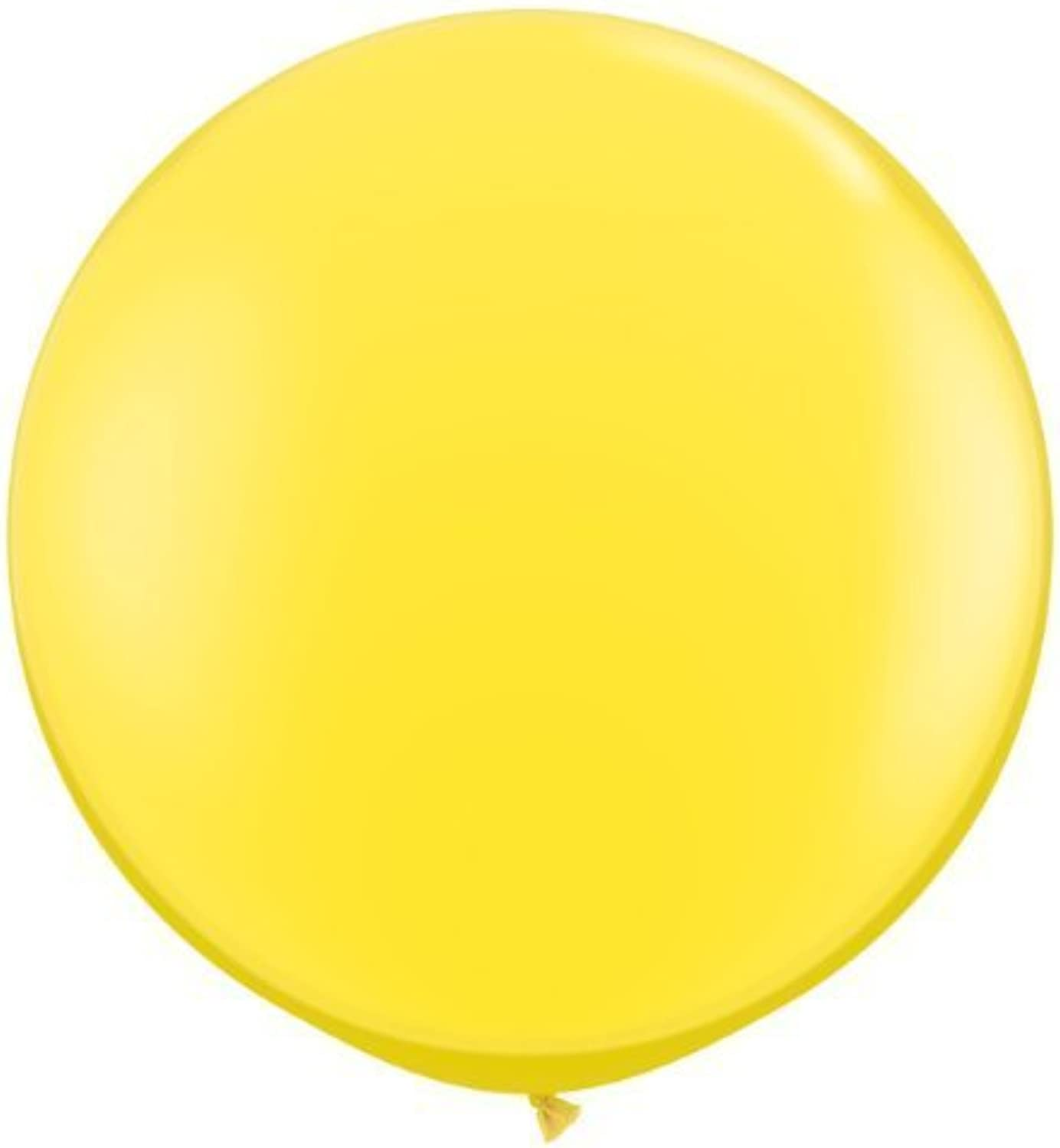 Yellow 3ft Qualatex Latex Giant Balloons x 2 by Standard Finish Solid Colour 3ft Latex