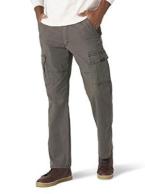 Wrangler Authentics Men's Stretch Cargo Pant, Olive Drab, 32W x 32L by Wrangler Authentics