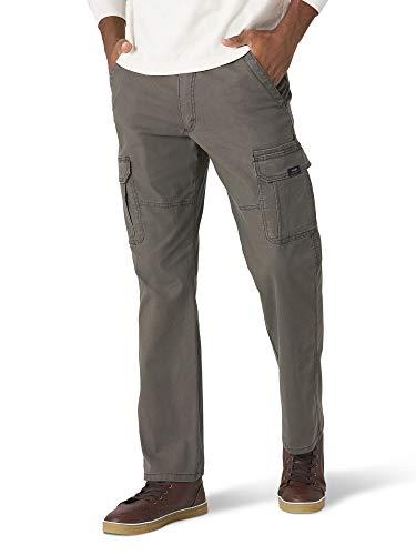 Wrangler Authentics Men's Stretch Cargo Pant, Olive Drab, 38W x 34L
