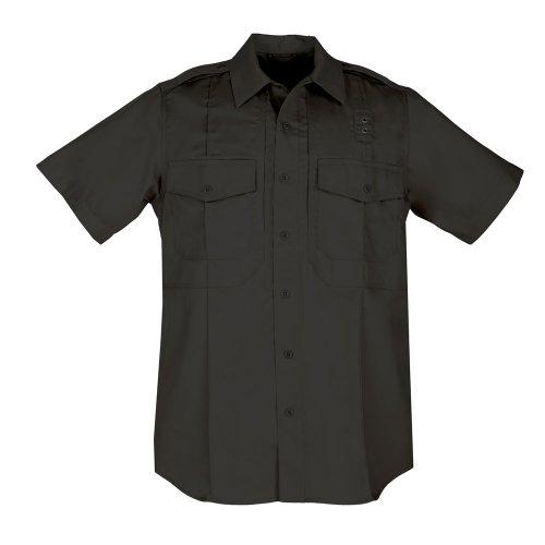 5.11 Tactical # 71177 Énergie Chemise à Manches Courtes en sergé Classe B pour Homme, Homme, 5-71177-019-BLACK-XXL-R, Noir, XX-Large