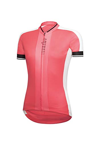 Zero Rh+ Roadie W - Ropa para mujer - Jersey para mujer, rojo fluorescente, blanco y negro, M