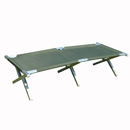 AI LI WEI Home Outdoor/Lit Pliant extérieur Napping Camping Aluminium charriage Gardant 125 kg Progressive Lit (Color : Green)