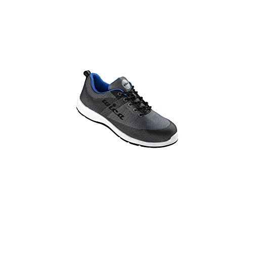 WiCa 1 Paar Sicherheitsschuhe Sicherheits-Halbschuhe in Sneaker-Optik Odiel S1 Grau/Blau Abgesetzt Gr. 43