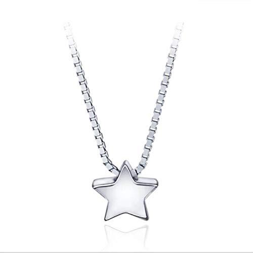 ShFhhwrl Collar Collares Pendientes De Cadena De Clavícula Femenina Estrella De Cinco Puntas Populares De Moda Simple