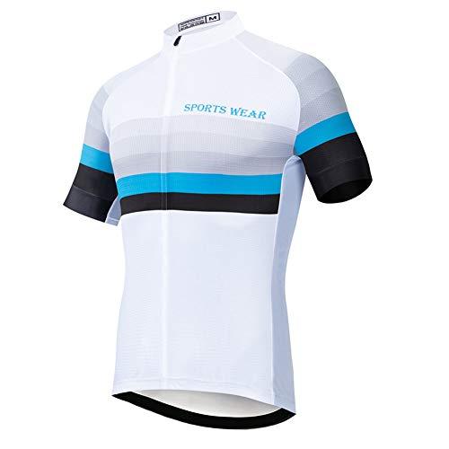 Buntes Kurzarm-Radtrikot für Herren, schnell trocknendes, komprimiertes Fahrradhemd Atmungsaktive MTB-Oberteile Sommer-Offroad-Bike-Trikots